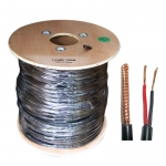 - Combined coax/power cable