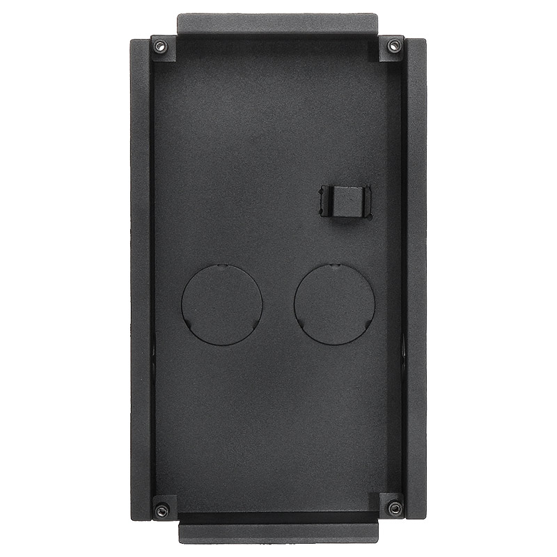 Multi-Tenant IP intercom apartment door station flush mounting box. For use with 2 x Multi-Tenant modules.