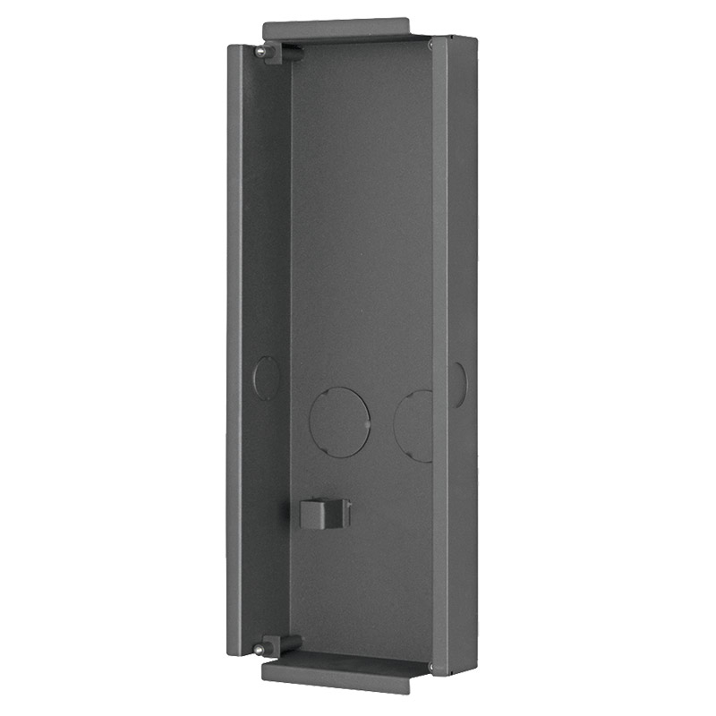 Multi-Tenant IP intercom apartment door station flush mounting box. For use with 3 x Multi-Tenant modules.