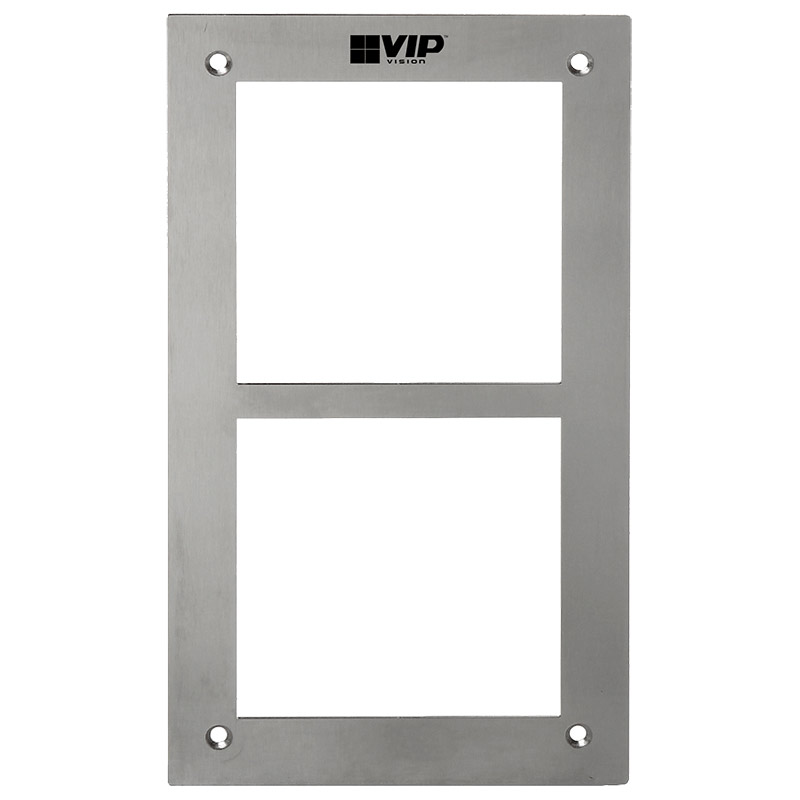 Multi-Tenant IP intercom apartment door station front panel. For use with 2 x Multi-Tenant Intercom modules.