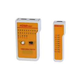 This compact HDMI tester is designed for checking any troubleshooting HDMI cables. It is useful for checking for faults with cables or inwall installations. All pins tested Base-unit to Base-unit.