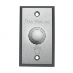 The ACDSW100 is a sandblasted aluminium door release button with 3 output contacts for use in access control systems.
