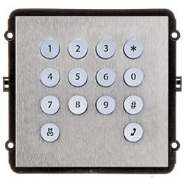 The INTIPVDSK is a keypad IP door station module for the VIP Vision Multi-Tenant Intercom Series. This compact unit features a robust stainless steel front pane