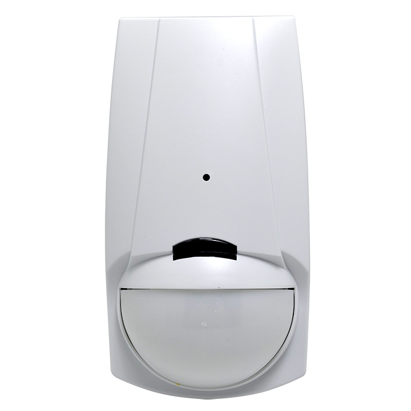 The sensor analyses two sequential signals of different frequencies allowing detection of both shock signal and glass breakage preventing false alarms. The detector can be mounted on a wall providing up to 15m movement and 10m glass break coverage