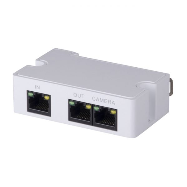 The VSPOE-EX is an extender for the VSPOE-MS 60W PoE Midspan. It enables the cascading of PoE to up to three IP cameras