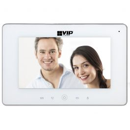 The INTIPMONDW is a part of the VIP Vision range of elegant indoor monitors to accompany your IP video intercom solution. The monitor operates with a capacitive touch screen
