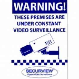 Weatherproof / UV resistant warning signs help to increase the overall effectiveness of surveillance systems acting as a deterrent to would be criminals.