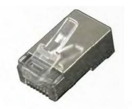 Shielded single-piece CAT5e RJ45 connector (10 pack).