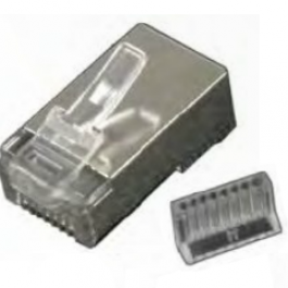 Shielded two-piece CAT5e RJ45 connector (10 pack).