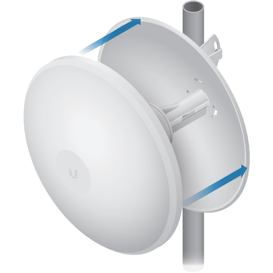 A protective radome is available as an optional accessory for the WT5-UPBAC4. The hardware of the WT5-UPBAC4D is built with galvanised steel