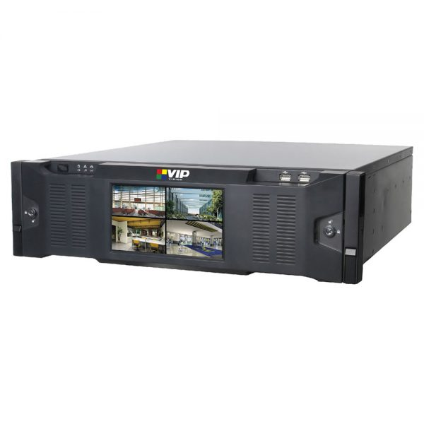 The VIP Vision NVR64ULTNPV2 is a 64 channel network video recorder