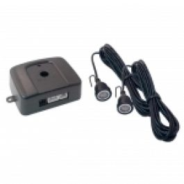 For detecting body movement inside the cabin of a hardtop vehicle. Easy to connect to most alarms via negative output trigger wire.