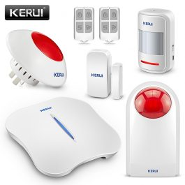 Wireless Home Security Alarm System with WIFI & PSTN - KERUI W1 (Kit 7) 5