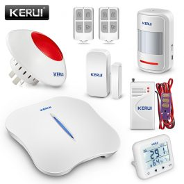 Wireless Home Security Alarm System with WIFI & PSTN - KERUI W1 (Kit 8) 5