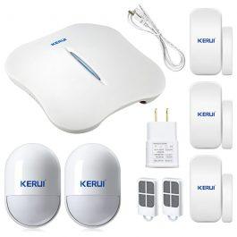 Wireless Home Security Alarm System with WIFI & PSTN - KERUI W1 (Kit 5) 5