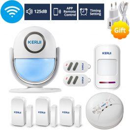WIFI Home Security Wireless Alarm System Works with Alexa Smart App - Kerui (Package 5) 6