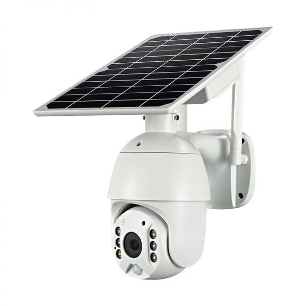 Battery & Solar Powered Security Surveillance Camera - PTZ 4G & WiFi camera with 8W solar panel 3