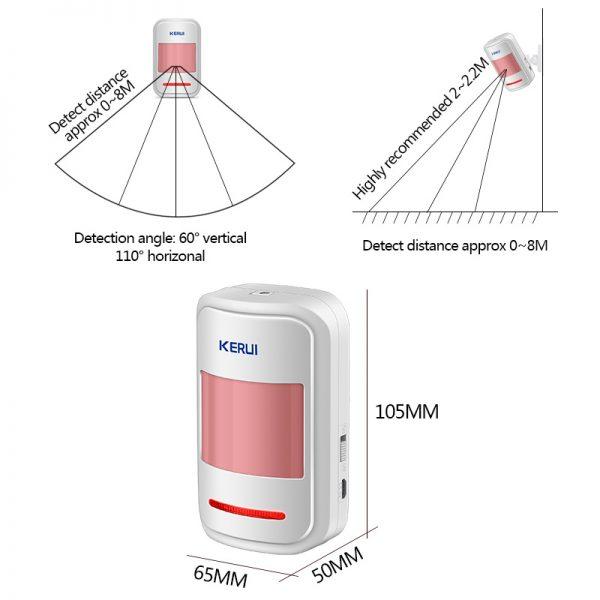 KERUI Wireless Intelligent PIR Motion Sensor Detector X3 2