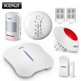 Wireless Home Security Alarm System with WIFI & PSTN - KERUI W1 (Kit 4) 5