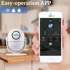 WIFI Home Security Wireless Alarm System Works with Alexa Smart App - Kerui (Package1) 2
