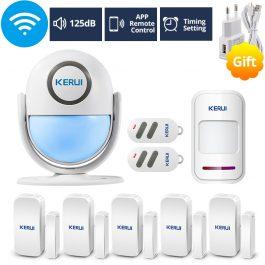 WIFI Home Security Wireless Alarm System Works with Alexa Smart App - Kerui (Package1) 9