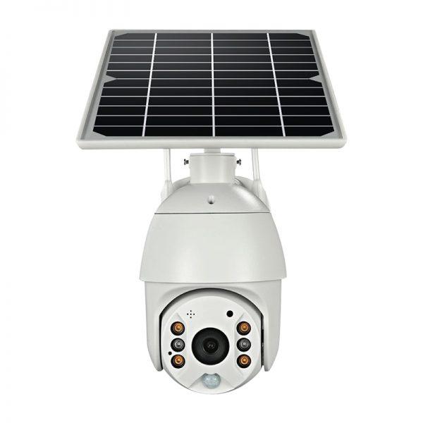 Battery & Solar Powered Security Surveillance Camera - PTZ 4G & WiFi camera with 8W solar panel 2