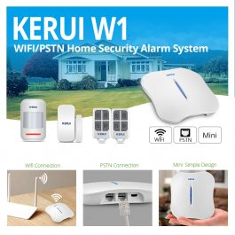 Wireless Home Security Alarm System with WIFI & PSTN - KERUI W1 (Kit 2) 2