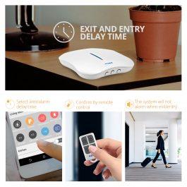 Wireless Home Security Alarm System with WIFI & PSTN - KERUI W1 (Kit 7) 2