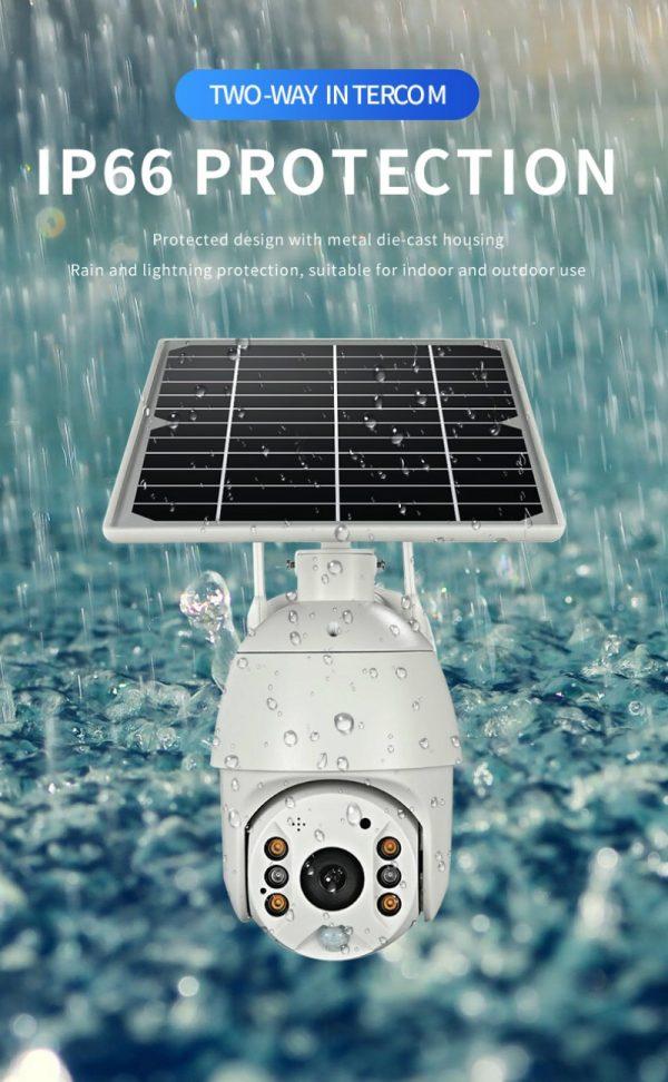 Battery & Solar Powered Security Surveillance Camera - PTZ 4G & WiFi camera with 8W solar panel 11