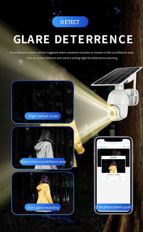 Battery & Solar Powered Security Surveillance Camera - PTZ 4G & WiFi camera with 8W solar panel 14