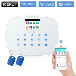 DIY Home/House Security Alarm System - Kerui W193 3G WiFi GSM - Package 1 (White) 6
