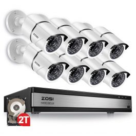 ZOSI 16CH 1080p Video Surveillance System with 8pcs 2.0MP Night Vision Outdoor/Indoor Home Security Cameras 16CH CCTV DVR Kit 1