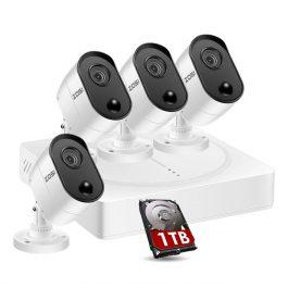 ZOSI 8CH 1080P DVR CCTV System with PIR sensor 4pcs 1080P 2.0MP Security Cameras IR outdoor IP66 Home Video Surveillance kit 1
