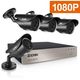 ZOSI 8CH 1080P HD-TVI Security Camera CCTV System P2P IR Night Vision 4PCS 2.0MP Outdoor HD Camera Surveillance Kit APP View 1