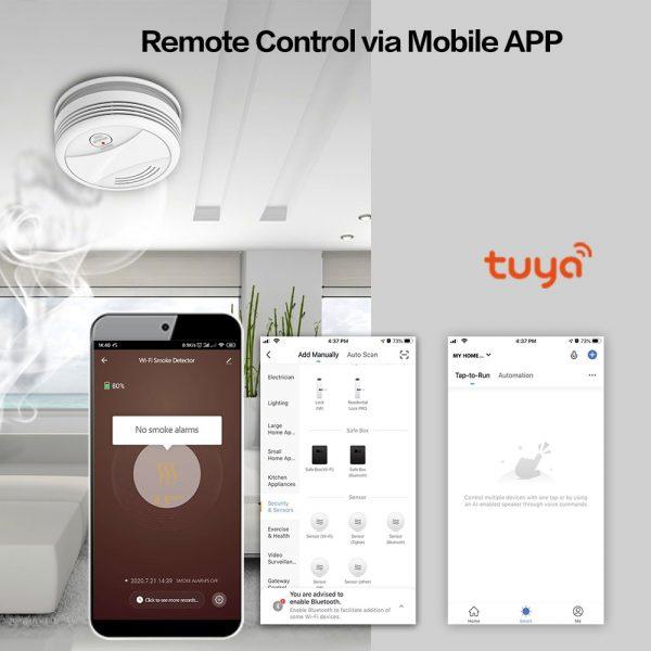 Smoke Alarm with WiFi and Tuya Smart Life App  2
