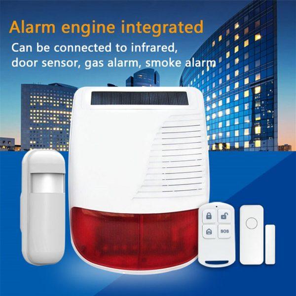 Solar Powered Alarm Siren & Strobe 2