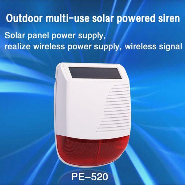 Solar Powered Alarm Siren & Strobe 1