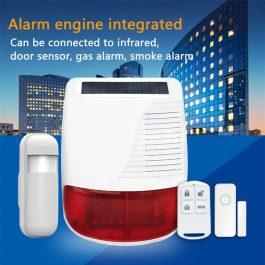 PGST New 433MHz Wireless light Flash Strobe Outdoor Solar Waterproof Siren for Home Burglar Wifi GSM Home Security Alarm System 7