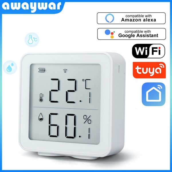 WIFI Temperature and Humidity Sensor Support Alexa Google Home smart life 1