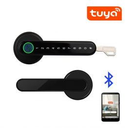 Biometric door lock with fingerprint, key and app lock/unlock 1